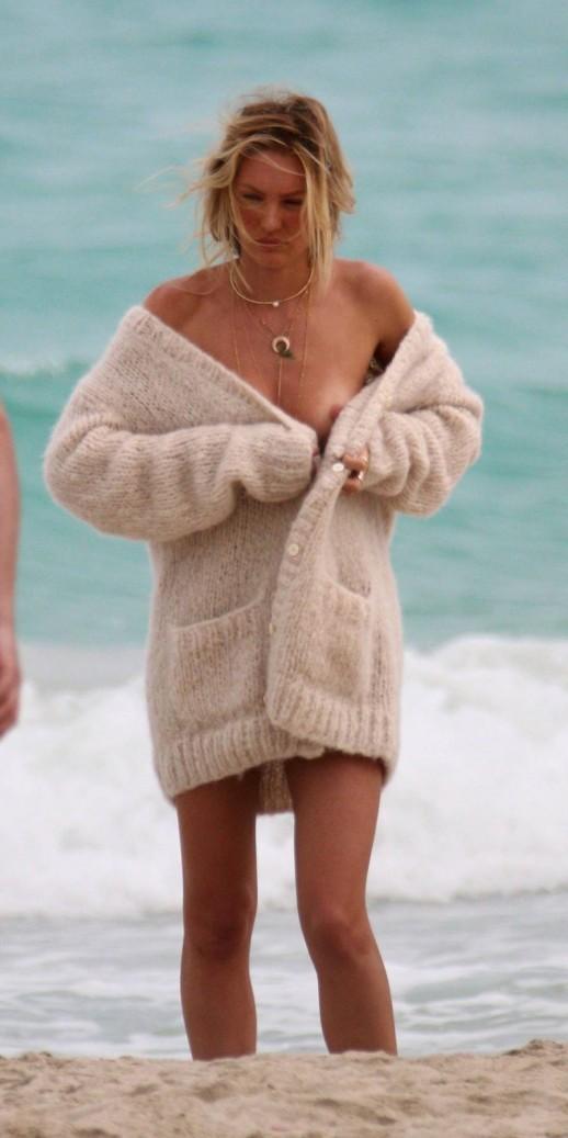 Candice Swanepoel nip slip