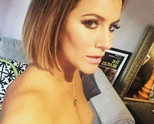 Caroline Flack topless selfie