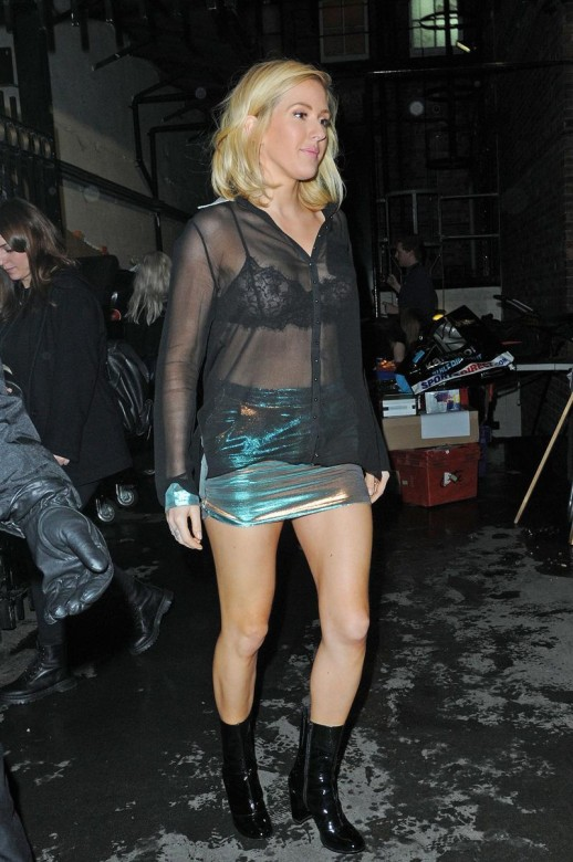 Ellie Goulding see through top