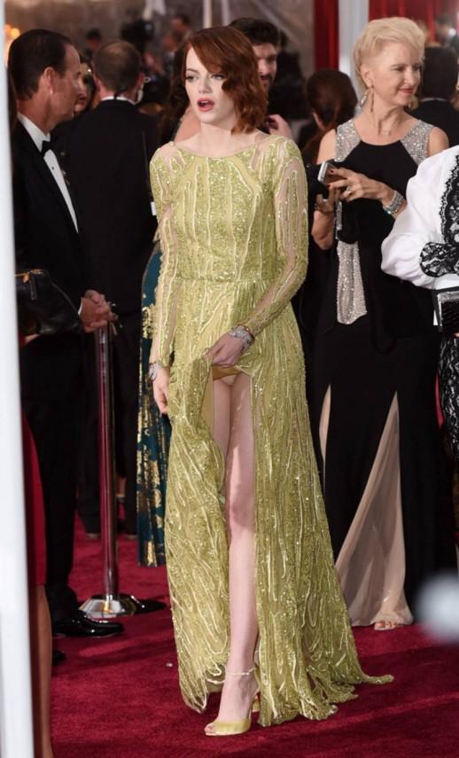 Emma Stone pantie upskirt