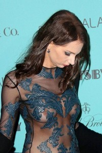 Frederique Bel nipple slip at Cannes Festival