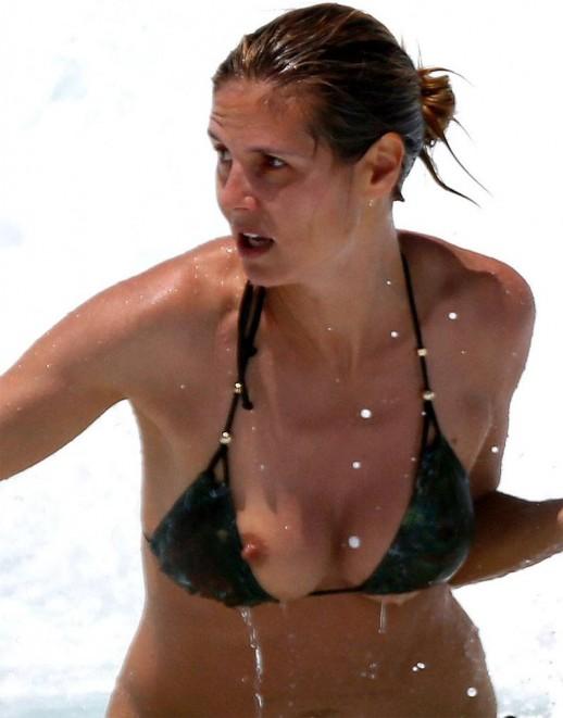 Heidi Klum bikini nip slip
