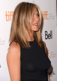 Jennifer Aniston braless see through dress
