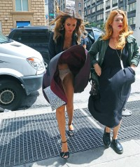 Jessica Alba windblown upskirt