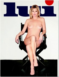Kate Moss topless Lui magazin