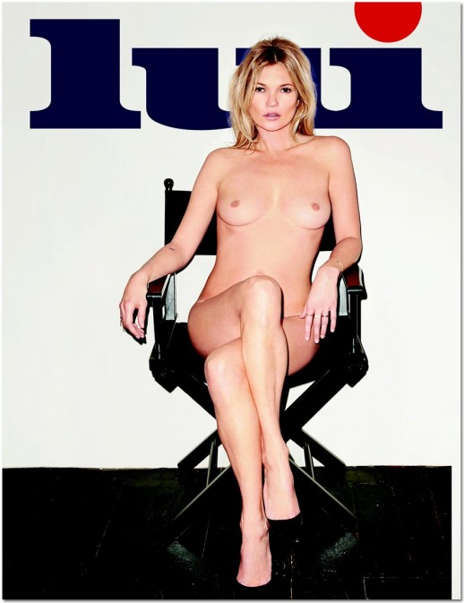 Kate Moss topless for Lui magazin