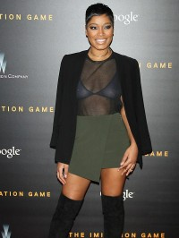 Keke Palmer see through top