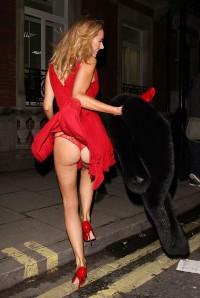 Kimberley Garner panty upskirt