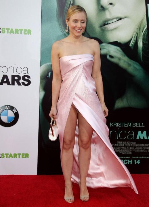 Kristen Bell panty upskirt