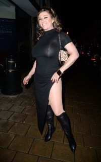 Lisa Appleton see through dress