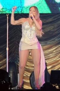 Mariah Carey panty upskirt