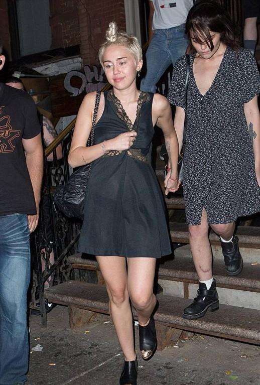 Miley Cyrus see through dress
