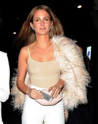 Millie Mackintosh braless in see through top