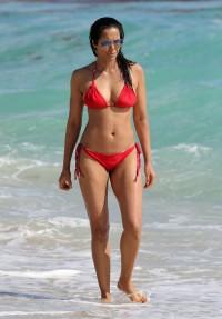 Padma Lakshmi bikini pokies