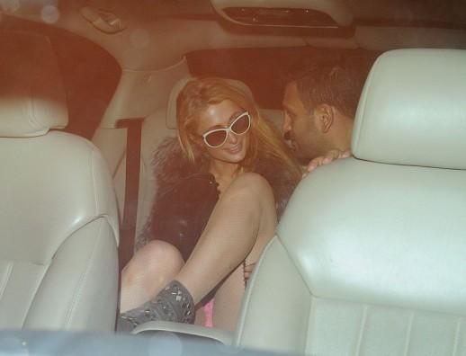 Paris Hilton panty upskirt