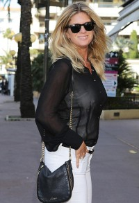 Rachel Hunter braless see through