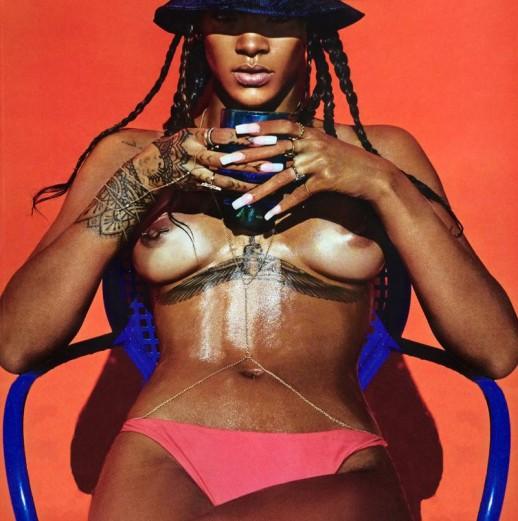 Rihanna topless for Lui magazine